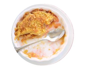 Crumble potimarron et châtaigne sans gluten