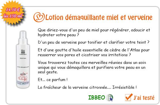 Lotion démaquillante - miel et verveine citronnée - 150ml